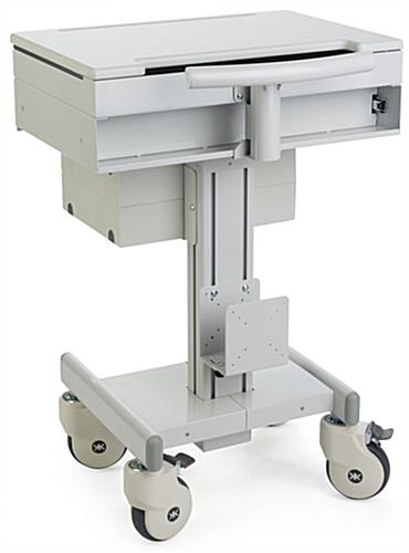 Height Adjustable Medical Cart, Supports Widescreen Laptops