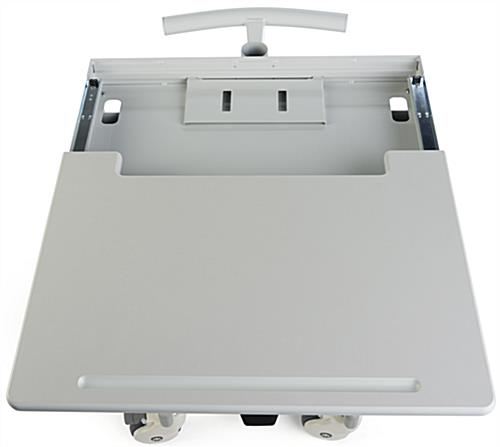 Height Adjustable Medical Cart, Locking Drawer