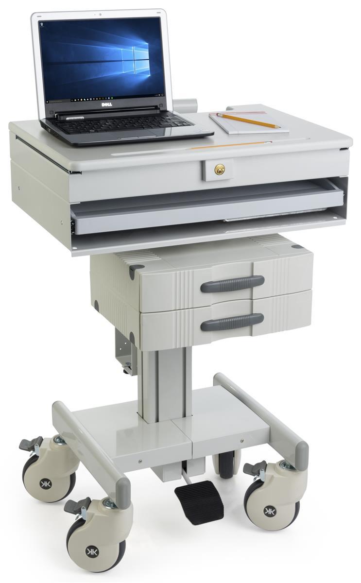 Height Adjustable Medical Cart Cpu Holder Amp Drawers