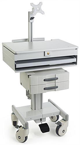 Medical Computer Workstation Wheeled Design