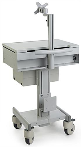 Medical Computer Workstation with CPU Holder