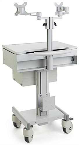 Rolling Medical Computer Trolley