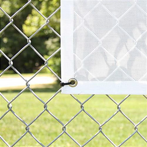Mesh vinyl banners for outdoor advertising