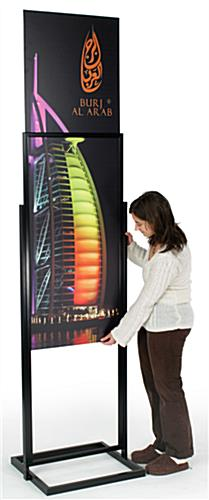 "Large Format Display: 22"" x 69"" Graphic Display"