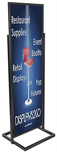 "Top Loading Black 22"" x 69"" Poster Stand"