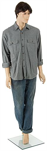 Male Retail Mannequin with Brown Wig  and Removable Limbs