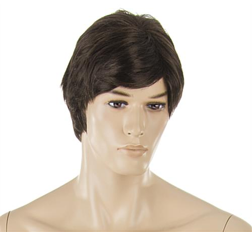 Male Retail Mannequin with Brown Wig and Painted Details