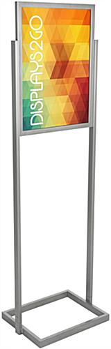 "Top Loading Silver 18"" x 24"" Poster Display Stand"