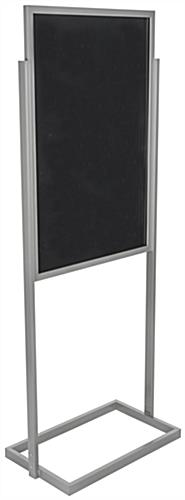 "Anodized Silver 24"" x 36"" Metal Poster Stand"