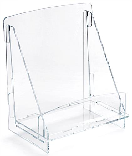 Clear Acrylic Knock Down Magazine Holder