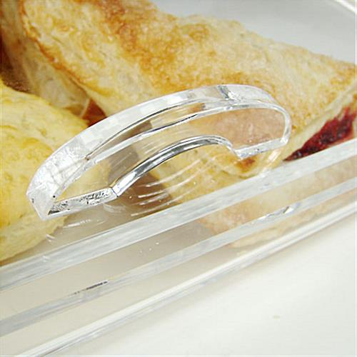 Acrylic Food Display With A Curved Lid