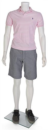 White Headless Male Mannequin with Removable Limbs