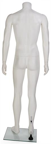 White Headless Male Mannequin with Removable Arms