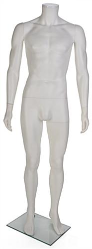 PP Plastic White Headless Male Mannequin
