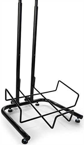 4 Tier Square Basket Stand with Metal Wire Shelves