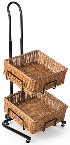 Height Adjustable 4 Tier Square Basket Stand