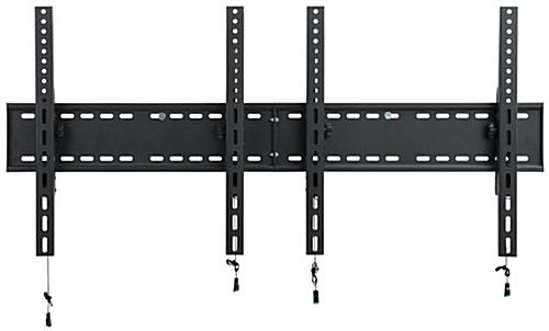 2-Monitor Wall Portrait TV Bracket with Pull Release Arms
