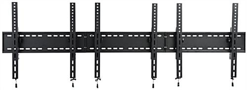 3-Monitor Wall Portrait TV Mount with Bracket Release Cables