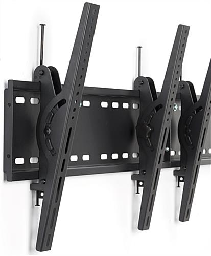 4-Monitor Wall Bracket with Tilting Brackets