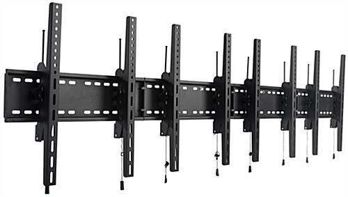 4-Monitor Wall Portrait Tilt Mount, 264lb Max Weight Capacity