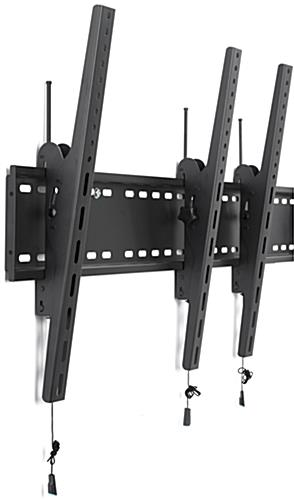4-Monitor Wall Portrait Tilt Mount with Pull Release Cables