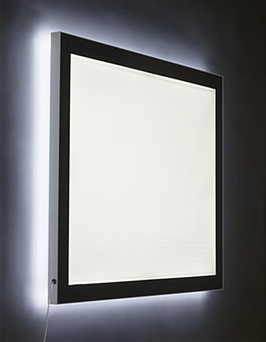 magnetic framed light box edge lit led panels. Black Bedroom Furniture Sets. Home Design Ideas