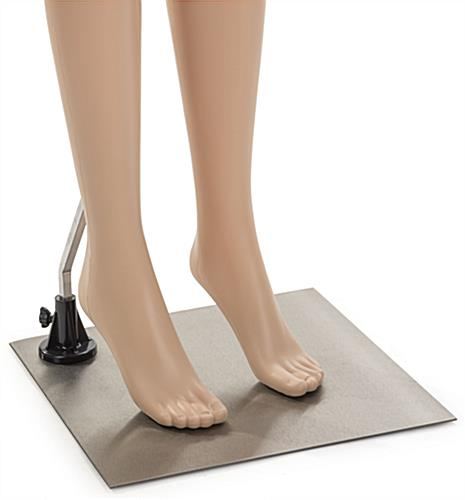 Lower Body Female Mannequin with Accented Feet