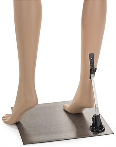 Female Mannequin Leg Form with Calf Rod