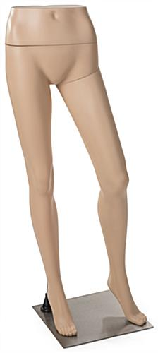 Female Mannequin Leg Form with Metal Base