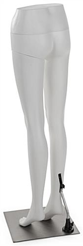White Lower Body Mannequin with Detachable Limb