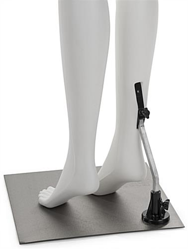White Lower Body Mannequin with Calf Rod