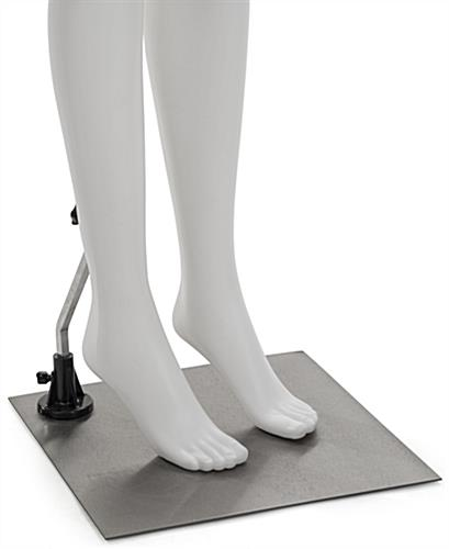 White Lower Body Mannequin with Accented Toes