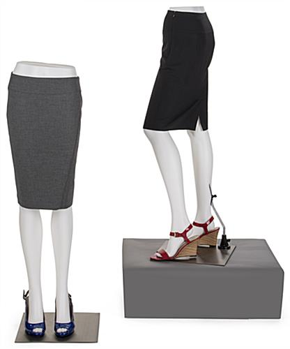 White Lower Body Mannequin Shown as a Composition