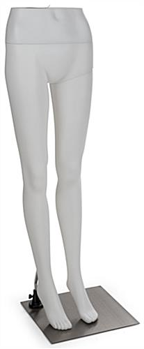 White Lower Body Mannequin with Metal Base