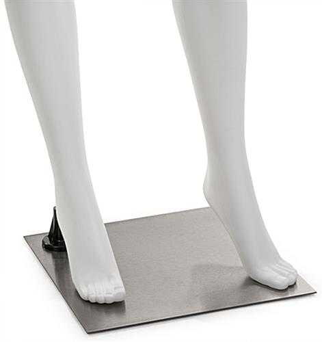 White Mannequin Leg Form with Accented Toes