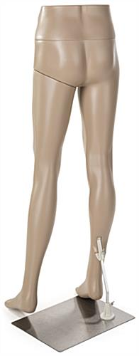 Male Mannequin Leg Form with Fair Skin Tone