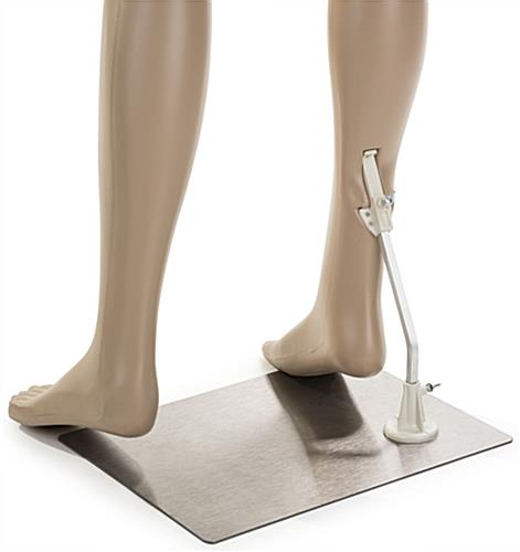 Male Mannequin Leg Form with Calf Rod