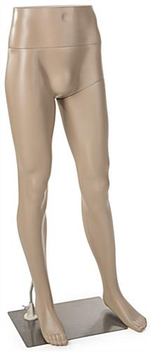 Male Mannequin Leg Form with Metal Base