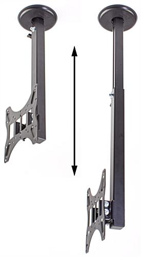 tv ceiling mount for 32 to 70 inch rotate and adjustable mast mounts flat screens best buy walmart