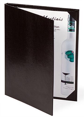 Restaurant Menu Holder Leatherette Book For Letter Size