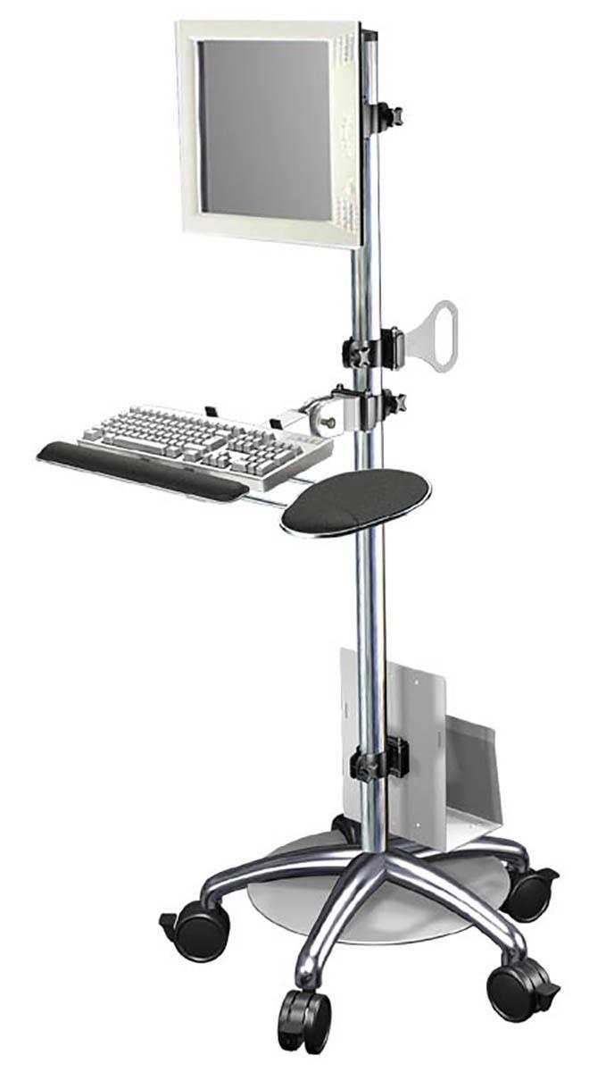adjustable height computer cart 1 flat panel mount. Black Bedroom Furniture Sets. Home Design Ideas