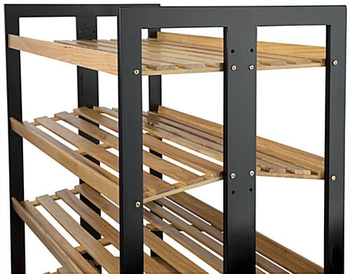 Rolling Wood Shelves with Adjustable Shelves