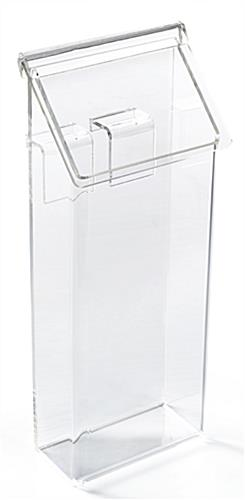 Outdoor brochure bin for modss a-frames constructed from acrylic