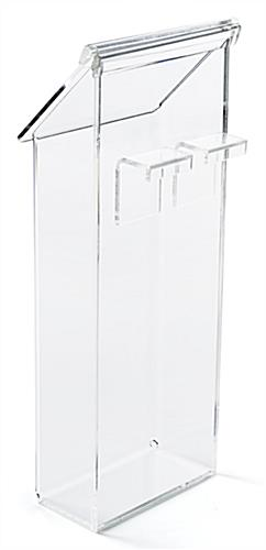 Outdoor brochure bin for modss a-frames with back hooks