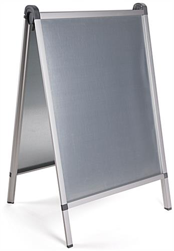 Silver Oversized Outdoor Snap A-Frame Stand with Non-Corrosive Back Panels