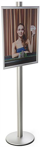 Silver 22x28 Snap Open Display Stand