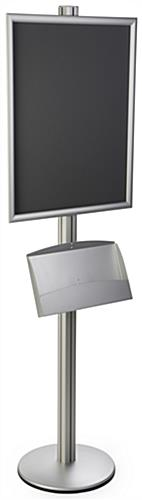 Aluminum 22x28 Dual Frame Stand with Pamphlet Pockets
