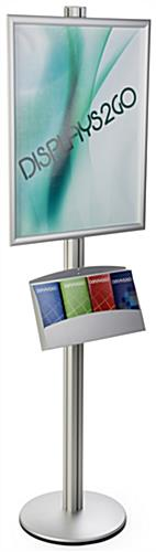 22x28 Dual Frame Stand with Pamphlet Pockets, 4 Slots