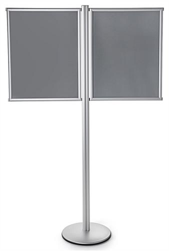 Dual Poster Fixed Post Display Stand with Single-Sided Frames