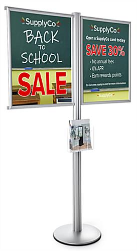 Multi Poster Floor Frame Literature Stand with Acrylic Pocket